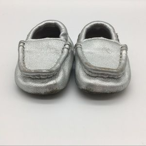 Ugg's Crib Shoes Metallic  Size 6-7  or 18-24 MTH